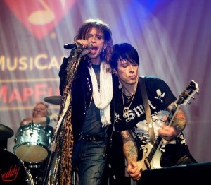 Steven Tyler (left) and Billy Morrison
