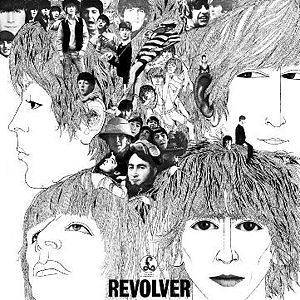 "The Beatles 1966 ""Revolver"" album cover designed by Klaus Voormann"