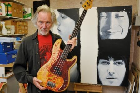 Klaus Voormann and his P-Bass - Photo credit: Joerg Kliewe