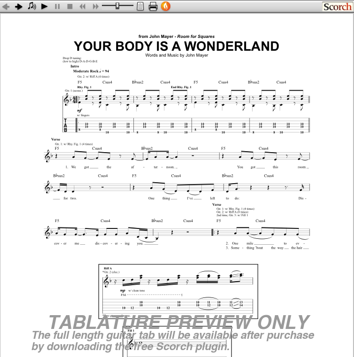 Your Body Is A Wonderland Guitar Chords Image collections - basic ...