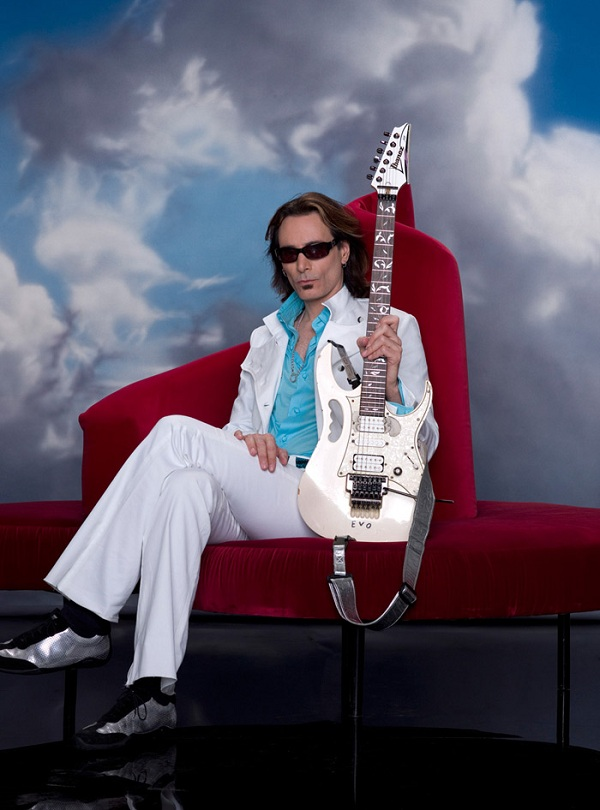 Steve Vai with his Ibanez Guitar