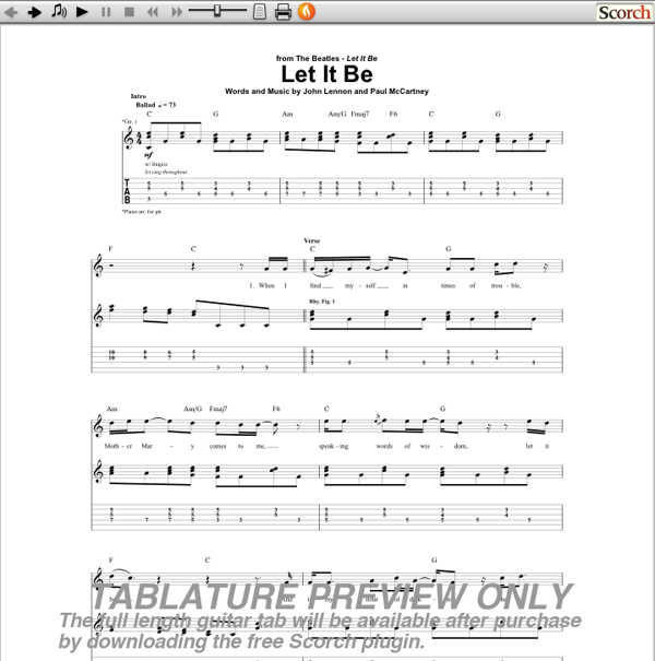 Beatles Let It Be Chords Choice Image Chord Guitar Finger Position