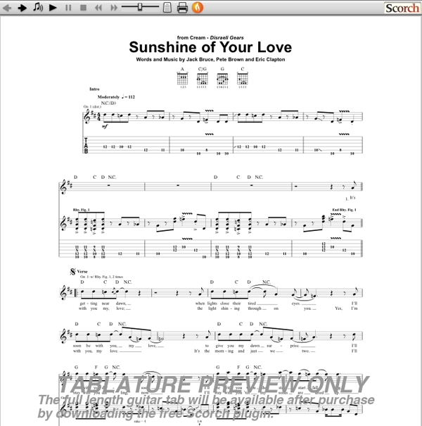 your love guitar tabs: