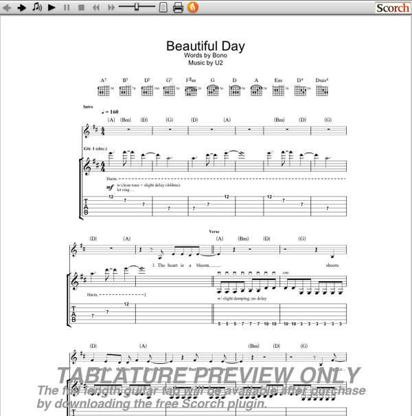 Beautiful Day Chords U2 E Chords : Review Ebooks