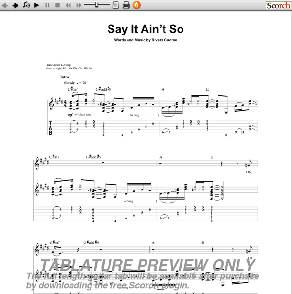 afounheblu - Download say it aint so chords