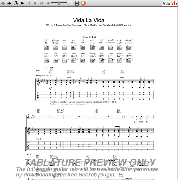 Guitar : guitar tabs viva la vida Guitar Tabs Viva in Guitar Tabs Viva Lau201a Guitar Tabsu201a Guitar