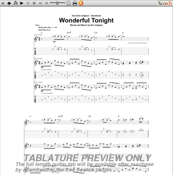 Guitar : guitar tabs wonderful tonight Guitar Tabs at Guitar Tabs Wonderful Tonightu201a Guitar Tabs ...