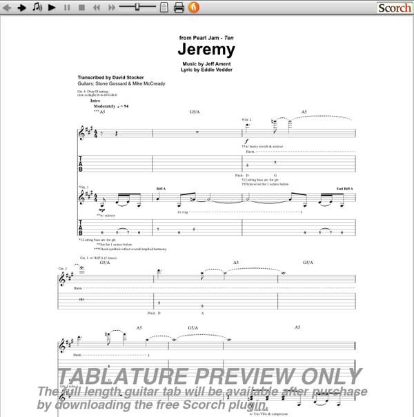 jeremy chords