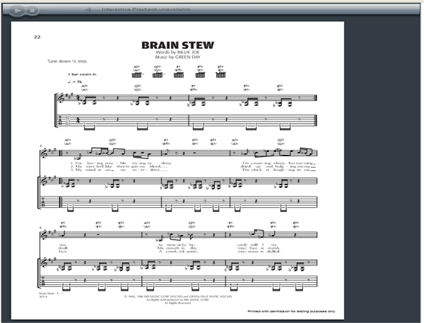 Green Day Brain Stew Guitar Tab   GuitarInternational.com