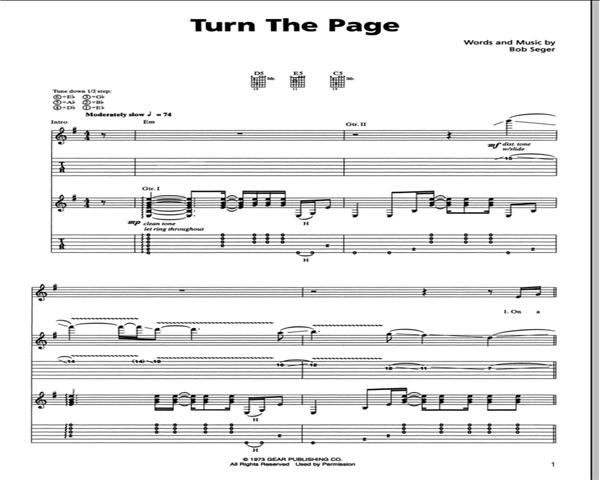 Metallica Turn the Page Guitar Tab   GuitarInternational.com