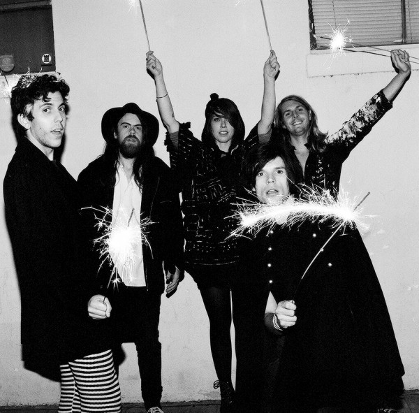 Grouplove (Ryan Rabin at far left) Photo: Autumn De Wilde