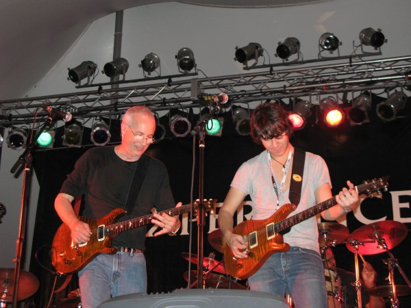 Paul Reed Smith and Davy Knowles on stage at Experience PRS 2011