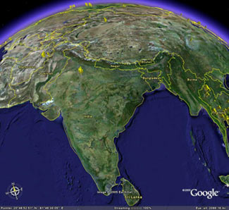 google-earth-india