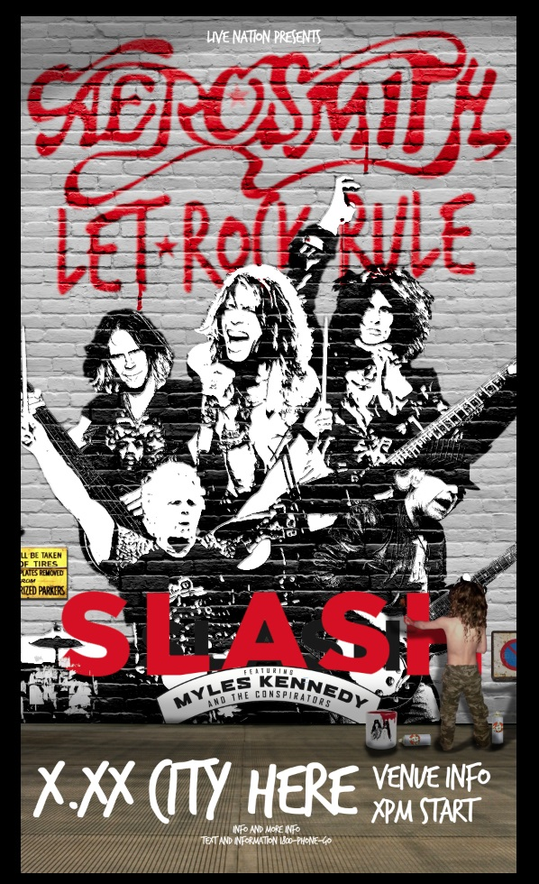 Aerosmith-Slash 2014 Tour Poster