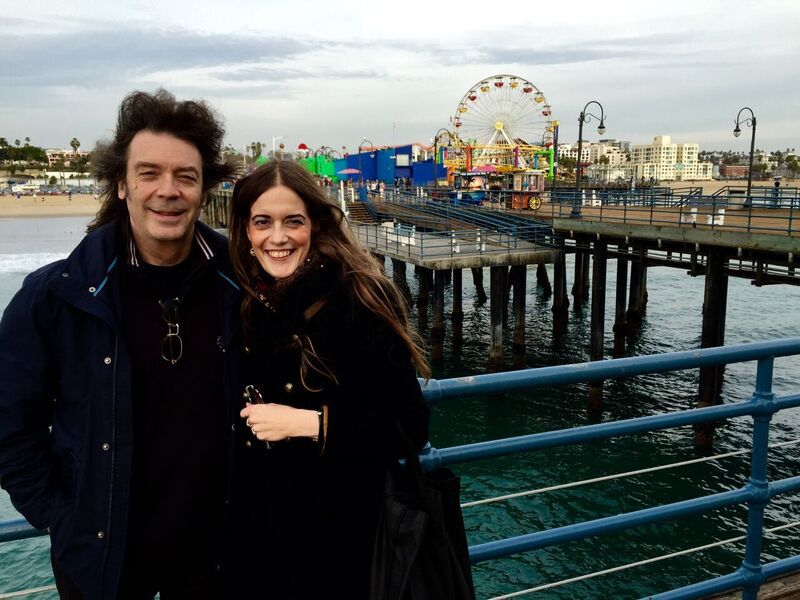 Steve and Jo Hackett in Santa Monica, CA - photo credit: Lee Millward