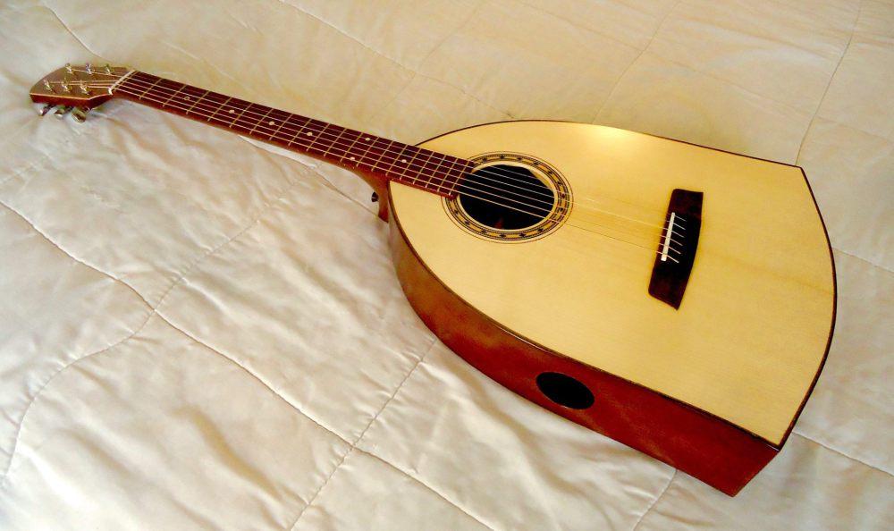 The Niko Appolonia parlour guitar designed with Gordon Bok - Photo courtesy of Appolonia Guitars.