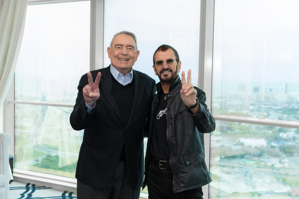 Dan Rather and Ringo Starr