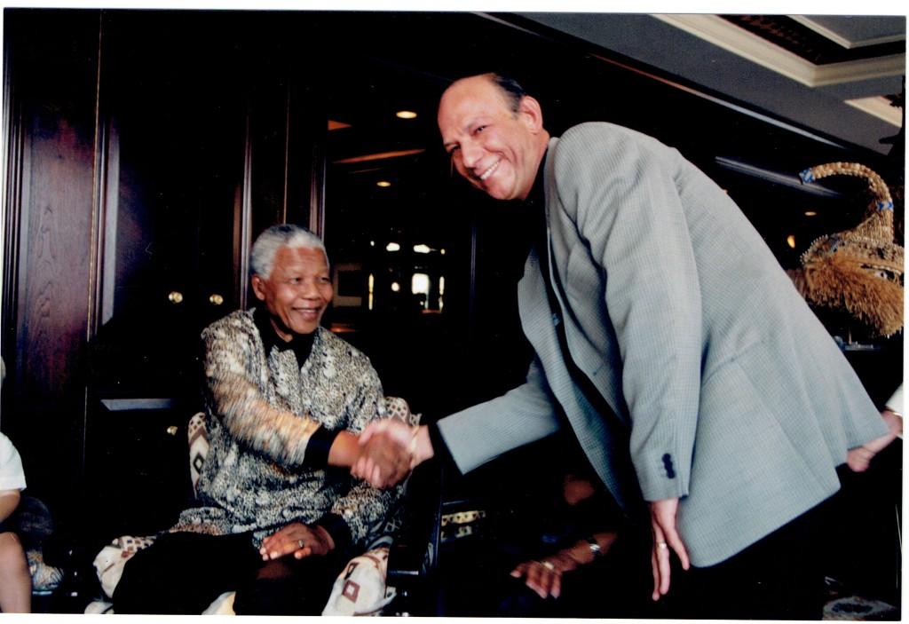 "Neil meets Nelson ""Madiba"" Mandela."